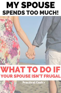 Does your spouse spend too much? Is it affecting your money and relationships? What to Do If Your Spouse Isn't Frugal #money #relationships #frugalliving Living On A Budget, Family Budget, Frugal Living Tips, Frugal Tips, Frugal Family, Budgeting Finances, Budgeting Tips, Advice For Newlyweds, Marriage Advice
