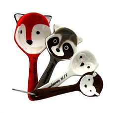 Woodland Critters Ceramic Measuring Spoons by WM *** Amazon most trusted e-retailer