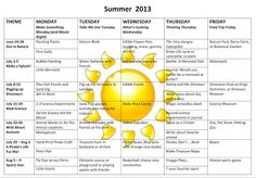 How to make your own summer fun schedule