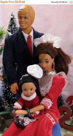 SALE 50%  OFF Vintage Barbie Ken And Their Toddler by DressMeDoll