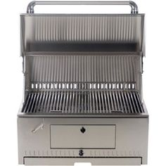 BBQ Guys Built-In 30 Inch Charcoal Grill - Outdoor Kitchen