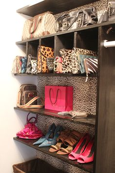 I would feel like I was shopping every morning if my closet looked like this!  So fun.