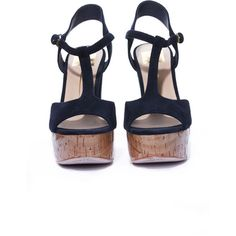 DOLCE VITA Baxter in Navy (15.960 HUF) ❤ liked on Polyvore featuring shoes, sandals, heels, wedges, zapatos, navy blue wedge shoes, wedge heel sandals, wedge heel shoes, dolce vita shoes and navy blue heeled sandals