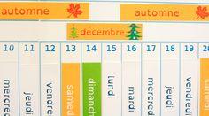 La poutre du temps Montessori à télécharger gratuitement sur le blog.