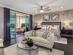 Transitional Master Bedroom with Hardwood floors, Ceiling fan, Crown molding, flush light, Carpet, High ceiling