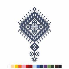 Výšivka Bzovík 12x20 cm   slovenský folklór Cross Stitch Embroidery, Embroidery Patterns, Mobiles, Symbols, Cards, Cross Stitch, Embroidery, Mobile Phones, Icons