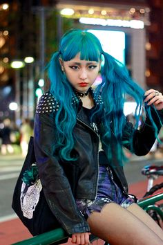 We ~ LOVE ~ Teal hair & japanese street fashion