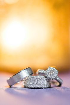 Wedding Rings - Gorgeous! See the wedding on #smp here: http://www.StyleMePretty.com/mid-atlantic-weddings/2014/04/11/rustic-meets-preppy-north-carolina-wedding-at-claxton-farm/  StephanieYoncePhotography.com