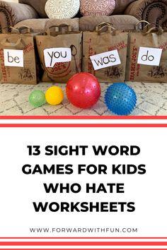 Kindergarten Sight Word Games, Preschool Sight Words, Sight Word Activities, Homeschool Kindergarten, Kindergarten Reading, Classroom Activities, Homeschooling, Popcorn Words, Word Games For Kids