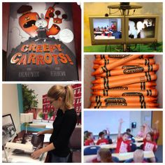 #CreepyCarrots makes a debut in the Museum's #DistanceLearning classes. It's just the perfect book for this spooky time of year. Did you know The Grace Museum will reach over 1,100 students just this Fall through our Distance Learning program? — with Kathryn White Mitchell.