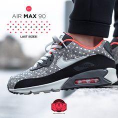 "#nike #airmax90 #polkadots #heat #polkadot #airmax90 #sneakerbaas #baasbovenbaas  The Nike Air Max 90 Leather Premium ""Polka Dot"" Last sizes, shop now!  For more info about your order please send an e-mail to webshop #sneakerbaas.com!"