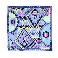 "1stdibs | Vintage EMILIO PUCCI 1970's Vivara wavy geo silk scarf 35"""