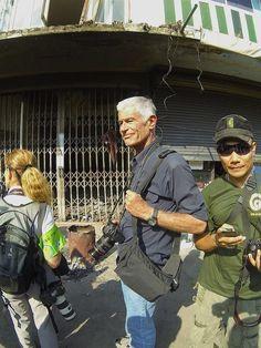 James Nacchtwey photographié à Bangkok le 17 janvier (c) Olivier Rotrou