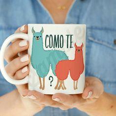 Como te Llamas 11 oz or 15 oz Coffee Mug  This listing is for a 11 oz or 15 oz Coffee Mug  100% Ceramic  Professionally Made, Dishwasher Safe.
