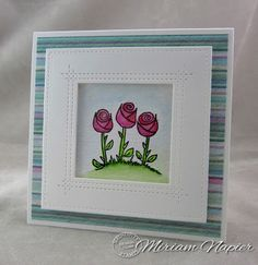 Miriam's Delirium: Serendipity Stamps Simple Flowers Cling Set 50% off May Stamp of the month