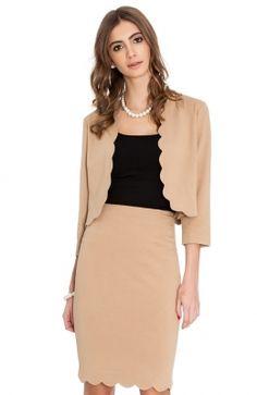 S65_front Scalloped Hem, Pencil, Skirts, Style, Fashion, Moda, Fashion Styles, Skirt, Fashion Illustrations