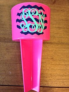 Monogram Beach Spiker by ShopCarlysCustoms on Etsy, $9.00