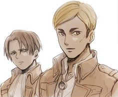 The commander and captain of the survey corps