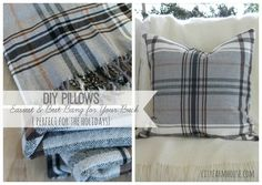 DIY Pillows-Easiest & Best Bang For the Bucks{Perfect for the Holidays} City Farmhouse Feature