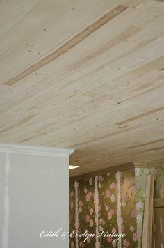 how to plank a popcorn ceiling with lightweight tongue and groove