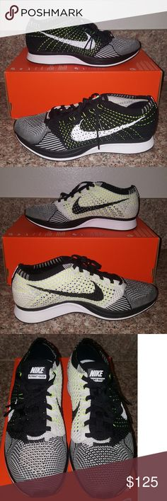 Nike Flyknit Racers Men's Sz 7.5 Wmns Sz 9 GUARANTEED 100% AUTHENTIC NEW  WITH BOX
