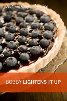 Bobby's Lighter Blueberry Tart