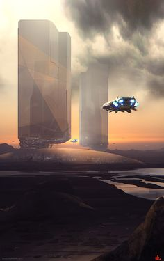 Yes, I can't have enough of these futuristic spaceships and city scenes