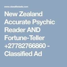 Young Psychic offers genuine psychic readings , direct and straight to the point , readings will help to solve the unsolved resolutions in your life. Fortune Teller, Psychic Readings, New Zealand, Health And Wellness, Ads, Life, Health Fitness