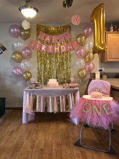 Birthday Ideas Girl Birthday Decorations Birthday pertaining to Idea for Birthday Party for Girl - Best Birthday Party Ideas 1st Birthday Party For Girls, Girl Birthday Themes, Princess First Birthday, Pink And Gold Birthday Party, Card Birthday, Birthday Cakes, 1 Year Birthday Party Ideas, Pink Princess Party, Frozen Birthday