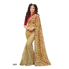 Buy Online Casual Sarees, shari, Ethnic sarees, Beige Color, Saree, sari, partywear, kitty party wear for women. We have large range of Casual Georgette Sarees in our website with the best pricing and unique designs shipping to (UK, USA, India, Germany, UAE, Canada, Singapore, Australia, Mauritius, New Zealand) world wide.
