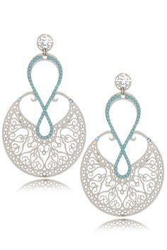 LK DESIGNS Infinity Silver Turquoise Earrings - ACCESSORIES | JEWELRY | Earrings | Pierced | PRET-A-BEAUTE.COM https://www.djpeter.co.za