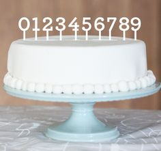 Numbers for birthdays