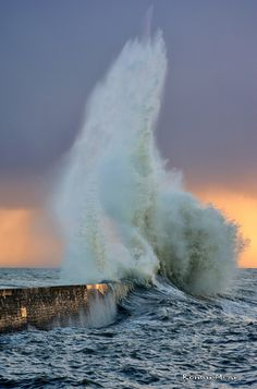 ~~The day after the gale Qumaira to Lomener   crashing waves, Brittany, France   by Ronan Bzh~~