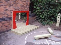 Z-Factor - School Playground Equipment Eyfs Outdoor Area, Outdoor Stage, Outdoor Play Spaces, Outdoor School, Natural Playground, Outdoor Playground, Children's Playground Equipment, Preschool Playground, Outdoor Learning