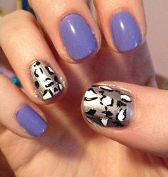 purple & silver leopard