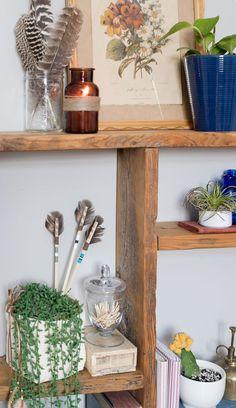 Thrift-the-look-boho-inspired-decor - Vinyet Etc Bohemian House, Boho Room, Bohemian Style, Nature Decor, Boho Decor, Kitchen Ornaments, French Farmhouse Decor, Boho Theme, Look Boho