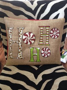 HO HO HO Christmas Pillow Christmas Pillow by TiffinyHDesigns, $40.00                                                                                                                                                                                 More