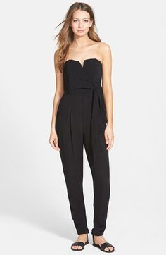 WANT & NEED Strapless Jumpsuit (Juniors) available at #Nordstrom