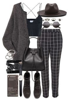 """Untitled #7870"" by nikka-phillips ❤ liked on Polyvore featuring rag & bone, Topshop, Shakuhachi, Acne Studios, H&M, Korres, 3.1 Phillip Lim, Daniel Wellington and Forever 21"