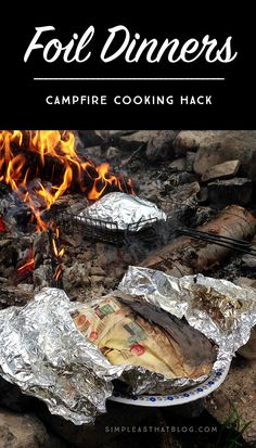 How to cook the perfect foil dinner while camping! This simple trick will prevent your foil dinner from burning over the campfire.