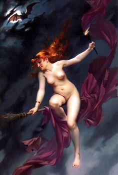 """vintagegal: """" Luis Ricardo Falero- The Witches Sabbath (1880) """""""