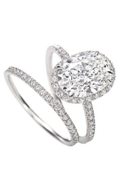 Harry Winston- Micropavé Ring, Oval #ring.