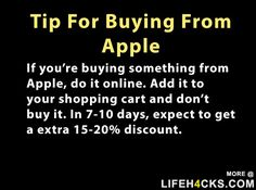 Tip For Buying From Apple - interesting tip ... hope it works ... :)