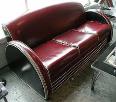 """""""Radio City"""", one of the most unusual and striking Art Deco seating designs offered by Deco-Dence as a reproduction, based on the original Royalchrome suite produced in the 1930's."""