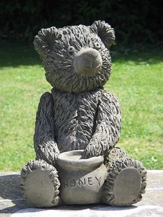 Amazing The Honey Pot Teddy Bear One Of Our Medium Sized Teddy Statues.