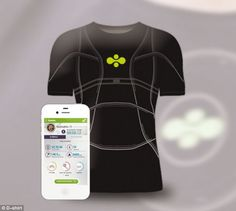 3db630137fded This smart T-SHIRT has inbuilt GPS and sensors that monitor your heart rate  and