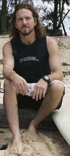 #PearlJam #EddieVedder Surfer dude.