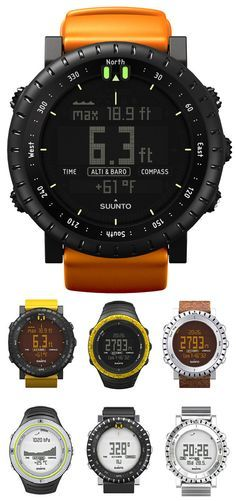 Suunto Core watch. An altimeter tracks your vertical movement, a barometer tells the Trend in air pressure, and a compass points the way Suunto core tracks both the weather and the sun for you