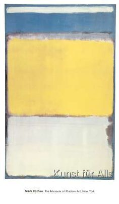 Saturated hues of yellow and blue bring vivid energy to the Amanti Art Framed Print - Number 10 1950 by Mark Rothko . This abstract wall art is printed. Mark Rothko, Rothko Art, Franz Kline, Edward Hopper, Abstract Painters, Abstract Wall Art, Blue Abstract, Art Moderne, Abstract Expressionism