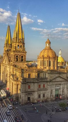 Cathedral at Guadalajara Jalisco, Mexico Monuments, Places To Travel, Places To See, Holidays To Mexico, Visit Mexico, Destinations, Famous Places, Place Of Worship, Puerto Vallarta